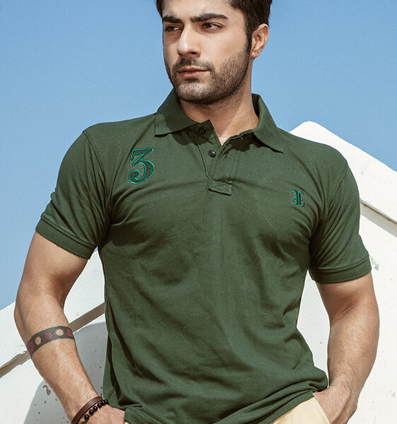forest green signature polo